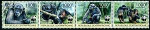 HERRICKSTAMP CENTRAL AFRICA Scott Unlisted WWF Chimpanzee