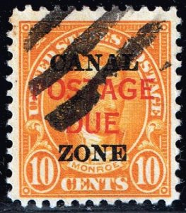 US STAMP CANAL ZONE STAMP #J17 10c 1925 Canal Zone Postage Due Used Stamp