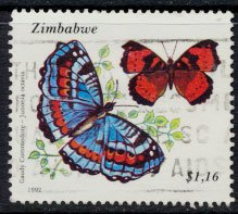 Zimbabwe SG 843  SC# 675 Used  Butterflies  see detail and scan