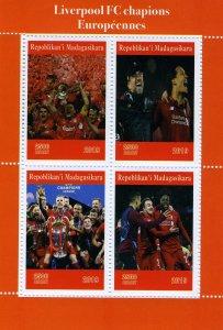 Madagascar 2019 FOOTBALL FC CYHAMPIONS LEAGUE Sheet Perforated Mint (NH)
