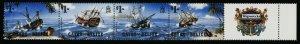 Cayes of Belize 26 + label MNH Shipwrecks