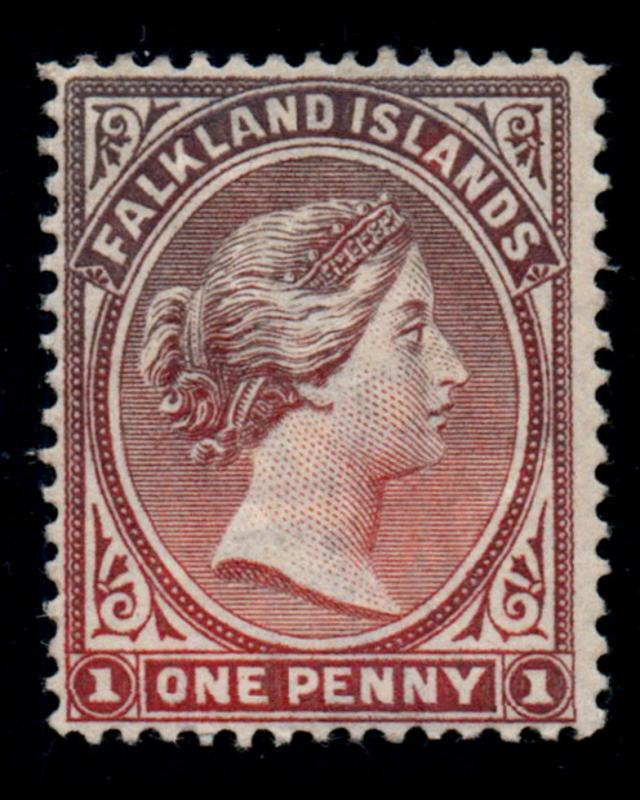 VINTAGE: FALKLAND ISLANDS 1891-1902 OG,LMHR SCOT # 11 $ 100 LOT # VSASFLK1891AXE