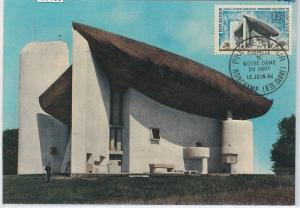 59139  -  FRANCE - POSTAL HISTORY: MAXIMUM CARD 1964 - ARCHITECTURE