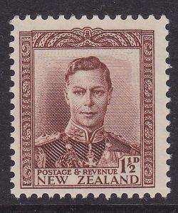 NEW ZEALAND 1938 GVI 1½d brown MNH SG cat £26...............................2939