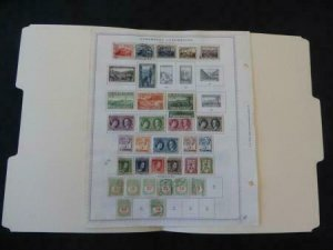 Luxemburg 1921-1935 Stamp Collection on Album Pages​