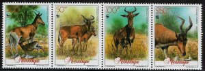 Mozambique #1145 MNH Strip - WWF - Wild Animal