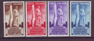 J21553 Jlstamps 1933 italy set mh #306-9 statue