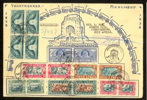 SOUTH AFRICA 1949 VOORTREKKER MONUMENT Illustrated Cover