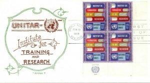 UN NY FDC #193 Inscription Block, Artopages (18148)