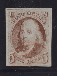1 VF-XF used light Red cancel 4 big margins with nice color cv $ 375 ! see pic !