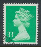Great Britain SG X984 Sc# MH146    Used with first day cancel - Machin 33p
