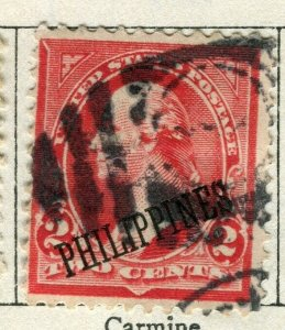 PHILIPPINES; 1899 early Presidential Optd. series issue used 2c. value