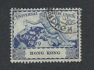 HONG KONG SC# 182 F-VF U 1949