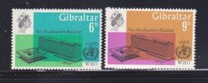 Gibraltar 180-181 Set MH WHO