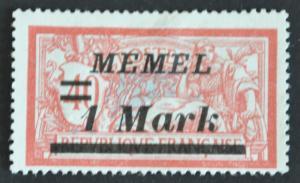 DYNAMITE Stamps: Memel Scott #69 – UNUSED