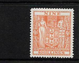 NEW ZEALAND  1931-58  9/-    ARMS   MLH     SG F200 Sc AR83