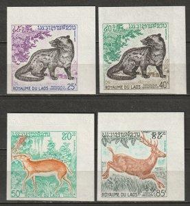 Laos 1971 Sc 219-22 set imperf MNH**