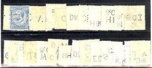Great Britain  #161&191  all different Perfins  Nice