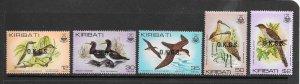 BIRDS - KIRIBATI #O16-20  MNH