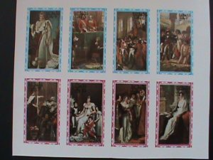 STATE OF OMAN AIRMAIL STAMP:FAMOUS PAINTING -IMPERF- MNH - MINI SHEET RARE