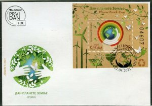 1606 - SERBIA 2021 - Planet Earth Day  - FDC