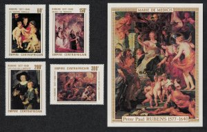 Central African Empire Rubens Paintings 4v+MS 1978 MNH SG#545-MS549