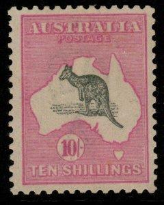 AUSTRALIA SG43 1917 10/= GREY & PINK MNH