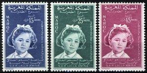 Morocco 1959, Childrens Week set VF MNH, Mi 442-444 2€