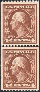 U.S. 350 VF NH GL PAIR  (32519FB)
