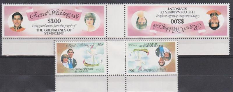 St Vincent Grenadines #209, 212 Se-Tenant Pairs (B9759)