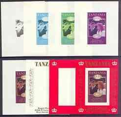 Tanzania 1986 Royal Wedding (Andrew & Fergie) the uni...