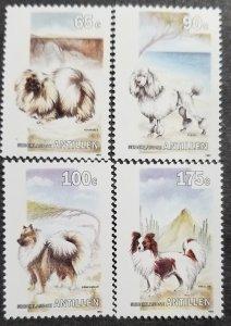 Netherland Antilles MNH 695-8 Dogs Semi-Postal 1993 SCV 5.50