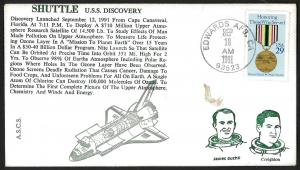 U.S.A. 1991 USS Discovery Shuttle Space Cover