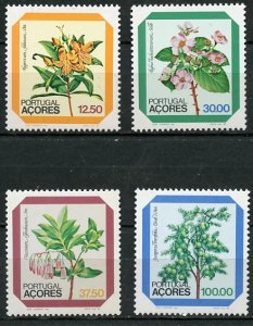 Portugal Azores MNH 338-41 Flowers Trees