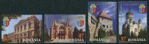 HERRICKSTAMP NEW ISSUES ROMANIA Sc.# 5830-33 Cities - Cluj - Napoca