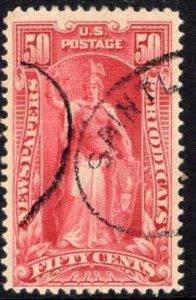 #PR119  50c Newspaper Stamp - USED and NICEl  cv$75.00