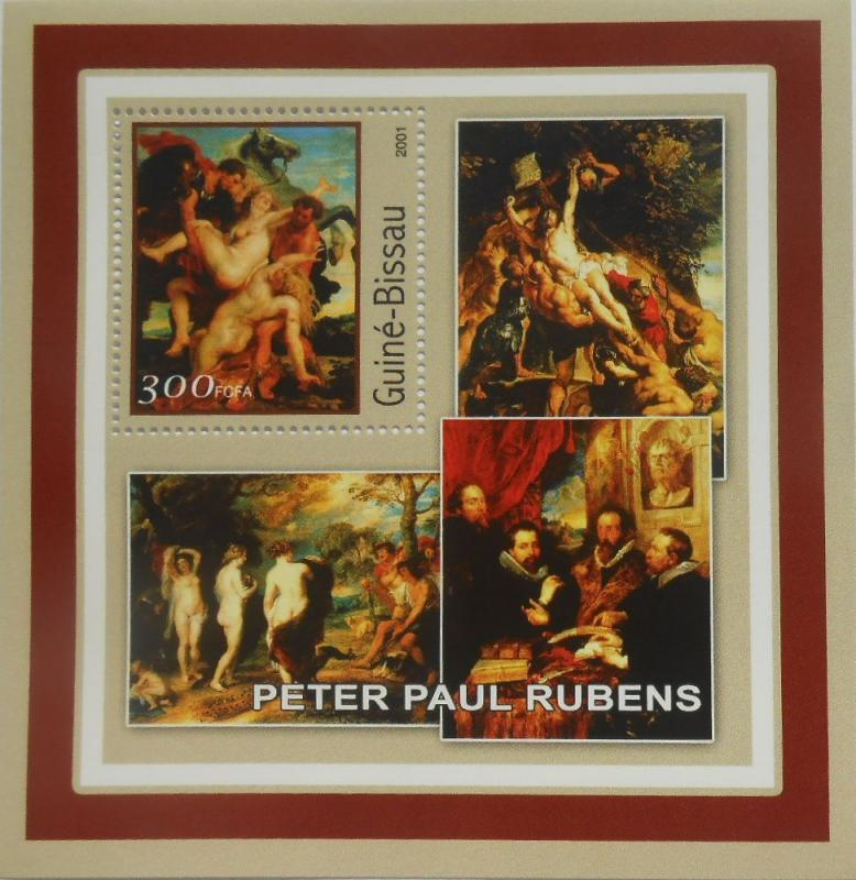 Guinea-Bissau MNH S/S Art Paintings Rubens 2001