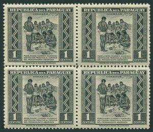 Paraguay 406 block/4,MNH.Mi 552. Primitive Postal Service among Indians,1944.