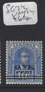 SARAWAK  (P2107B)  1C/10C TYPE 2  VERY SCARC  SG 74  MOG