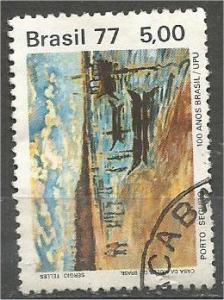 BRAZIL, 1977, used 5.00cr, Beach and boats. Scott 1506