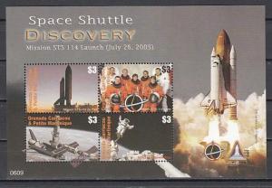 Grenada, Gr., Scott cat. 2633. Space Shuttle & Discovery sheet of 4.