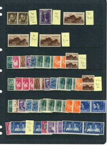SOUTH AFRICA; 1938-40s early GVI issues useful small Mint STOCK LOT