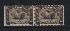 Canada #C4 Mint Low Surcharge Variety Pair