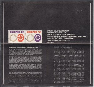 Singapore, Scott cat. 210-211. Scout Conference issue. Postal Bulletin. ^