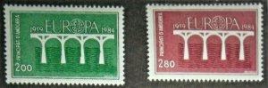 ANDORRA (FRENCH) SCOTT #323-324 MNH EUROPA
