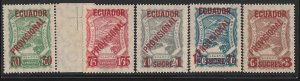 COLOMBIA 1928 SCADTA Ecuador Provisional surchare set . MNH ** with CERTIFICATE