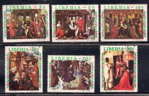 Liberia Used 534-9 Christmas 1970