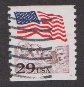 US #2523 Rushmore Flag Used PNC Single plate #7