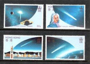HONG-KONG-461-464 Halleys Comet Complete-set SCV $17.25