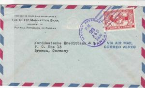Panama 1956 The Chase Manhattan Bank Airmail to Germany Stamps Cover Ref 25383